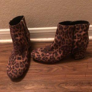 Leopard booties!!